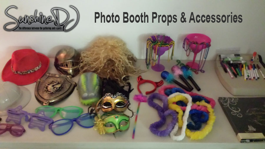DJ photo booth props & accessories